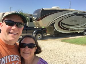 Cheryl and David on the day we departed DFW