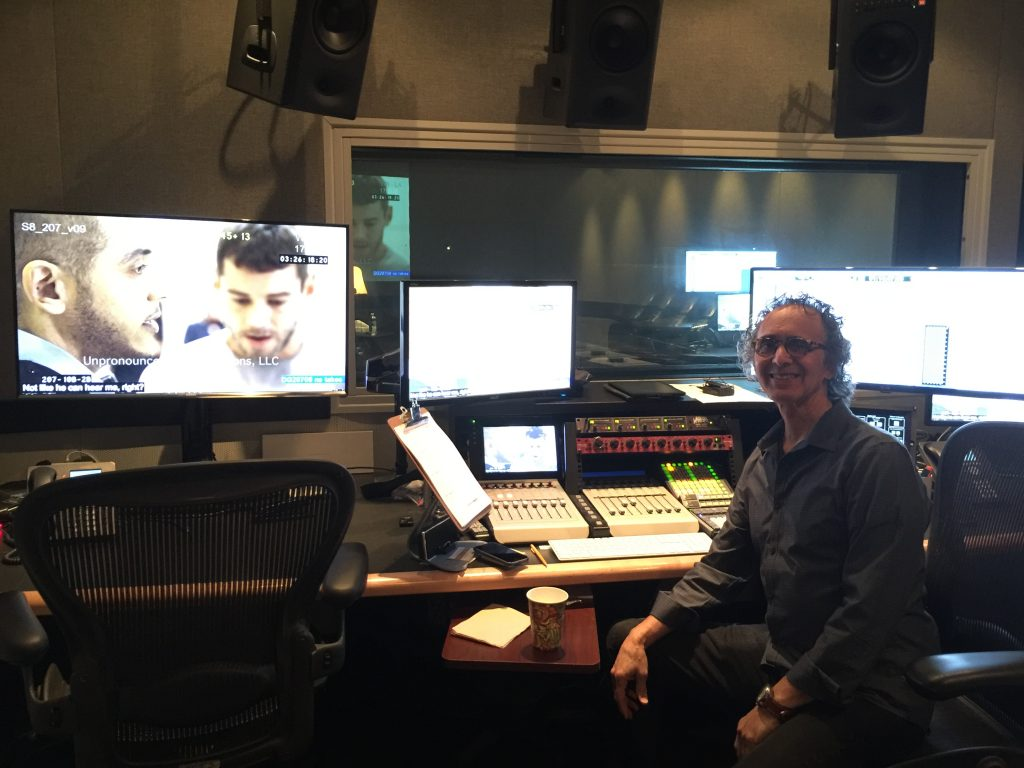 Eric Gotthelf at work in his ADR studio
