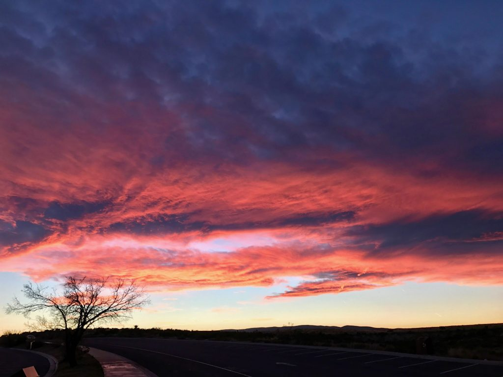 Incredible sunset over Carlsbad Caverns NP