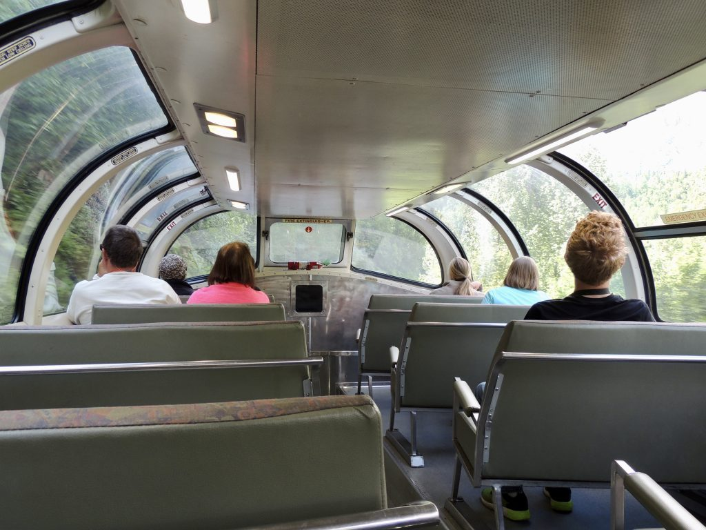 Inside of the dome car
