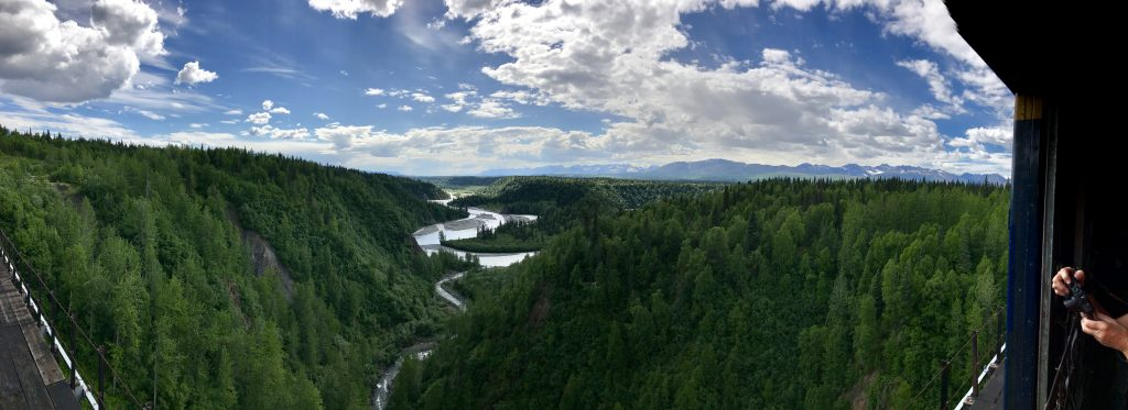 Panorama from Hurricane Gulch Bridge
