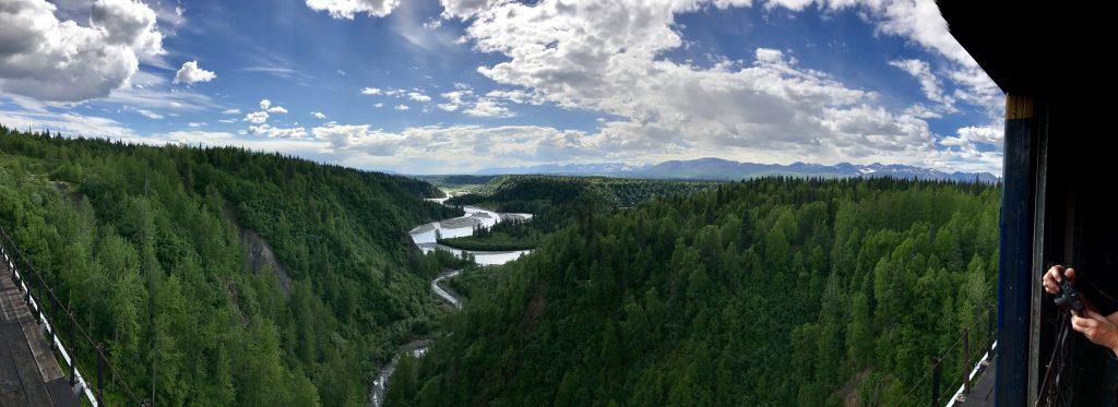 Panorama from Hurricane Gulch Bridge