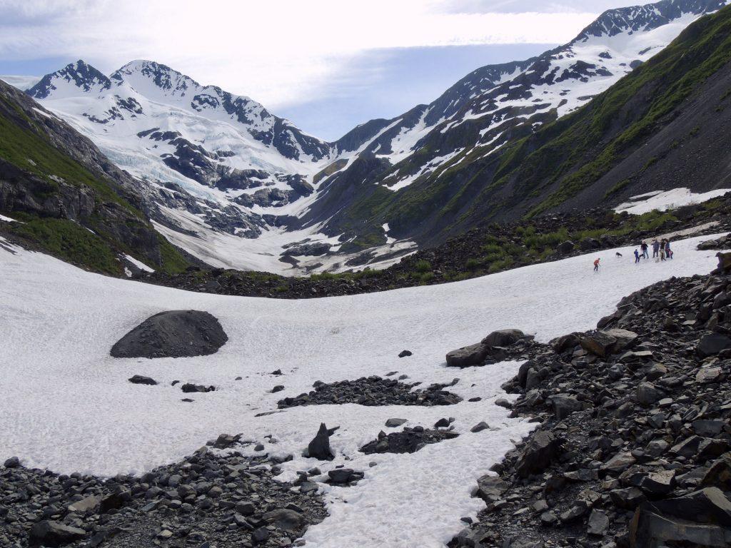 Avalanche field at Byron Glacier