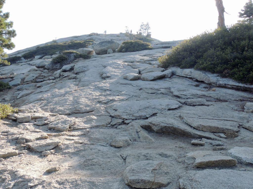 Final climb up Sentinel Dome