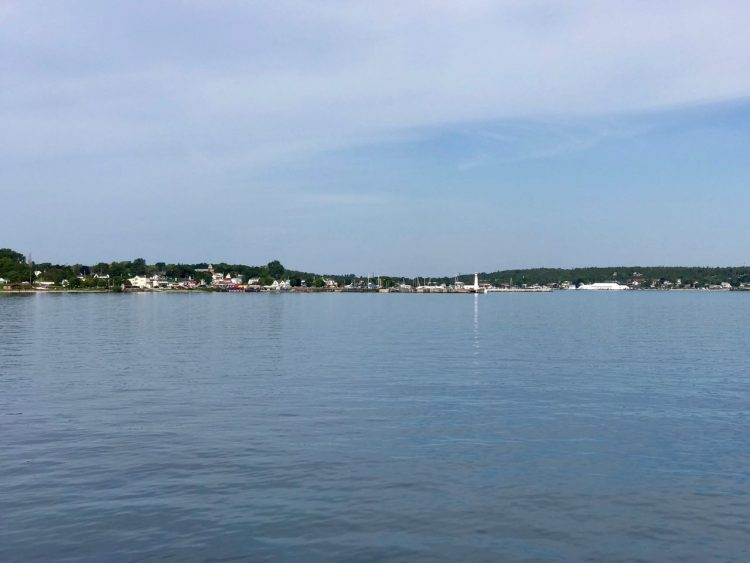 Approaching the harbor in St. Ignace