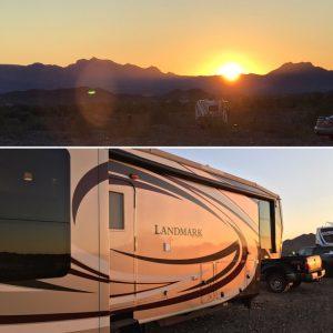 Landmark sunset