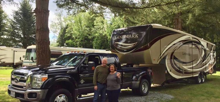 Cheryl & David with rig in Blaine, WA