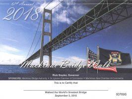 Walking Michigan's Mackinac Bridge